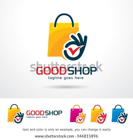 Good Shop Logo Template Design Vector - stock vector