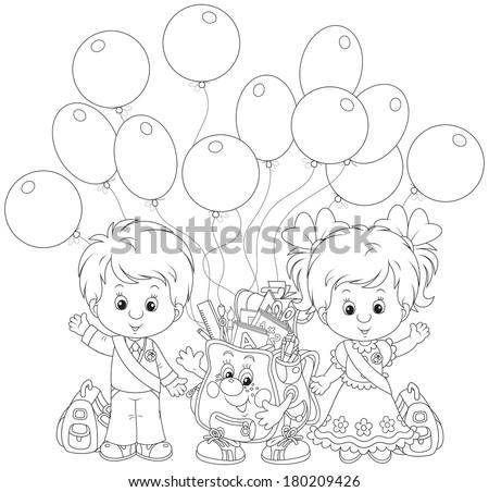 Goodbye kindergarten - stock vector