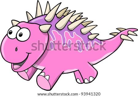girl vector card cartoon cute pink elephant and bow