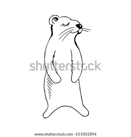 gopher vector coloring