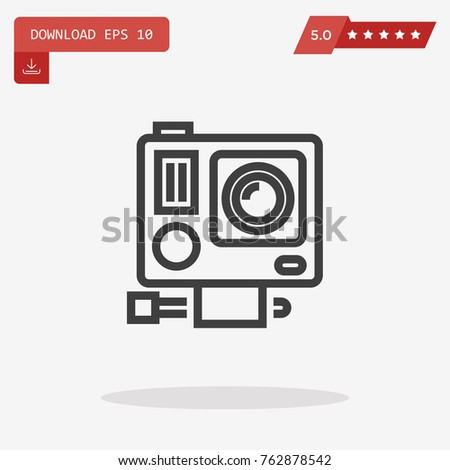 Gopro Vector Icon Stock Vector (Royalty Free) 762878542 - Shutterstock