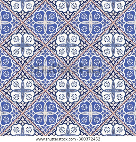 Gorgeous seamless patchwork pattern from colorful Moroccan tiles, ornaments. Can be used for wallpaper, pattern fills, web page background, surface textures.  - stock vector