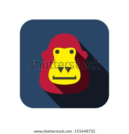 gorilla flat design - stock vector