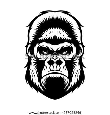 Gorilla vector head - photo#2