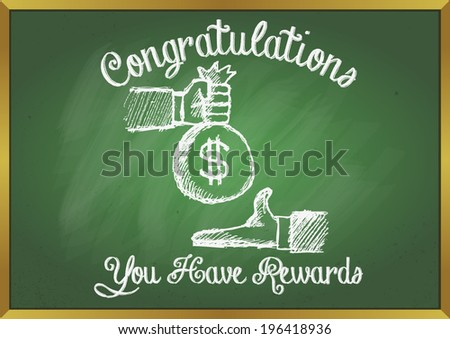 GOT REWARDS - stock vector