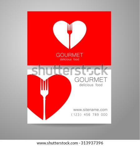 Gourmet - restaurant logo. Design corporate brand and the business card of the restaurant with refined cuisine. - stock vector