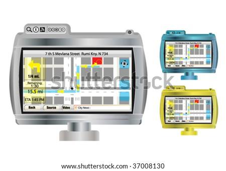 gprs monitor - stock vector