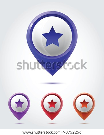 GPS Icon set - stock vector