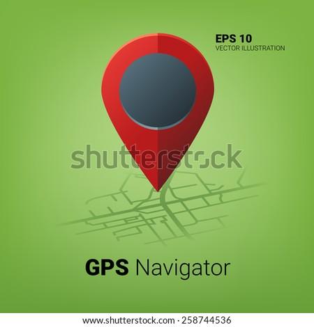 GPS navigator image concept - stock vector