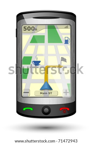 GPS Navigator, Vector illustration