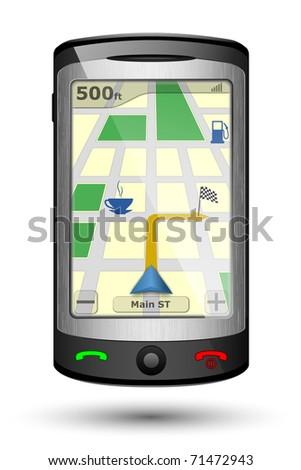 GPS Navigator, Vector illustration - stock vector