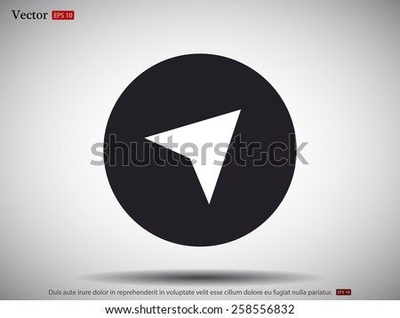 GPS vector icon  - stock vector