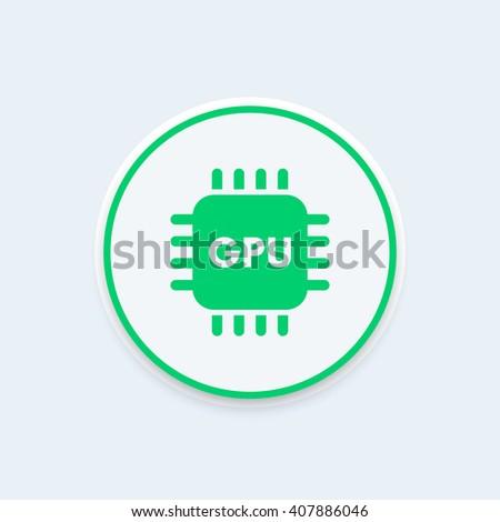 GPU icon. vector illustration - stock vector