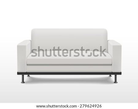 graceful blank sofa isolated on white background