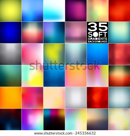Gradient backgrounds mega bundle. Vector illustrations. - stock vector