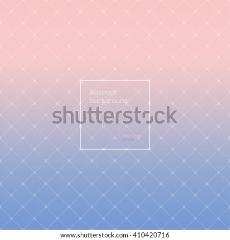 Gradient Rose Quartz and Serenity colored triangle polygon pattern background. Made up with triangular and rhombus shapes. Brochure, poster, design. Wallpapers for your computer, phone and tablet.  - stock vector