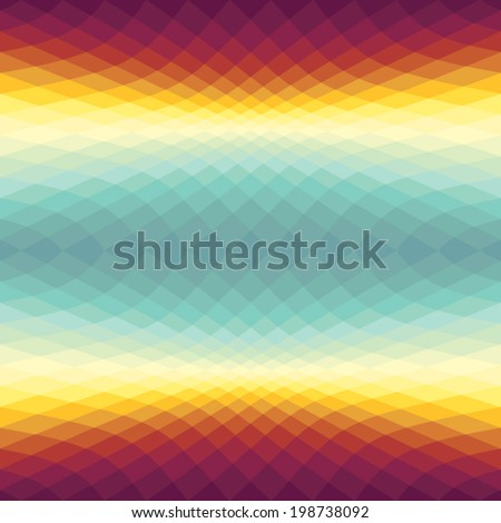 Gradient spectrum background with Sunset Sky colors - stock vector