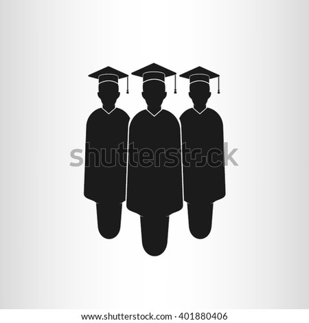 Graduate icon vector illustration eps10. - stock vector
