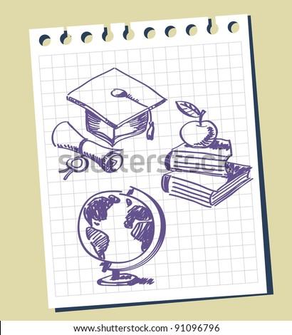 graduation background - stock vector