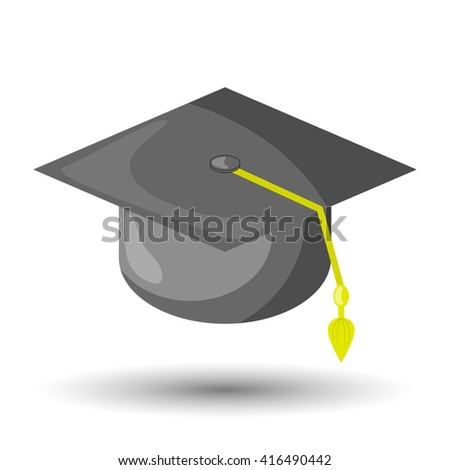 Graduation cap colorful icon