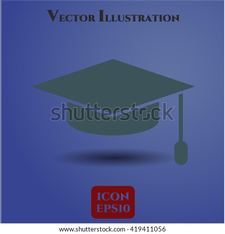 Graduation cap icon, Graduation cap icon vector, Graduation cap icon symbol, Graduation cap flat icon, Graduation cap icon eps, Graduation cap icon jpg, Graduation cap icon app - stock vector