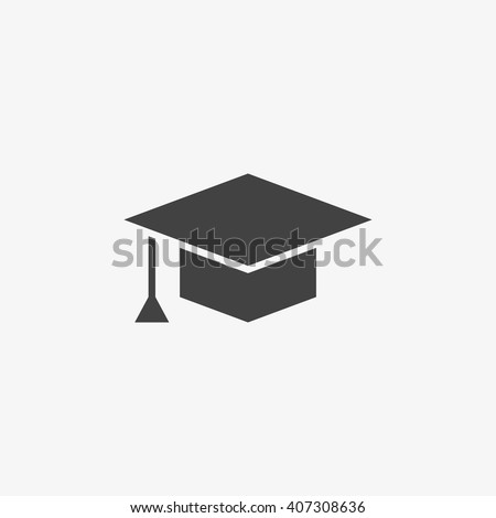 Graduation cap Icon in trendy flat style isolated on grey background. Education symbol for your web site design, logo, app, UI. Vector illustration, EPS10. - stock vector
