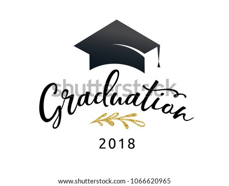 graduation class 2018 party invitations posters ベクター画像素材