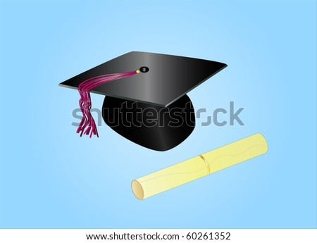 graduation day ( background on separate layer ) - stock vector