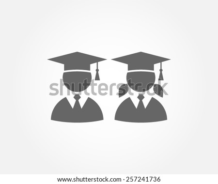 graduation education students class school university success career pictogram vector icon - stock vector