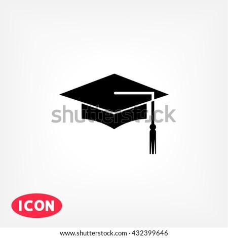 Graduation Icon, Graduation icon flat, Graduation icon picture, Graduation icon vector, Graduation icon EPS10, Graduation icon graphic, Graduation icon object, Graduation icon JPEG - stock vector