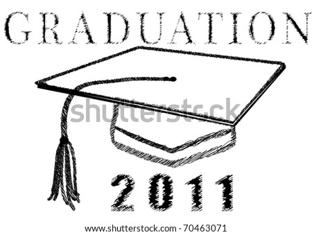 Graduation 2011 in stylized drawing