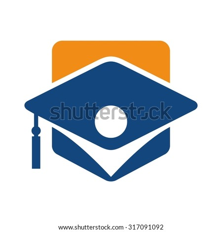 graduation logo vector for student ceremony. - stock vector