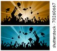 graduation party - stock vector