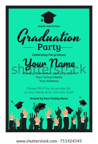Graduation party template invitation traditional ceremony stock graduation party template invitation to the traditional ceremony college university or high school student filmwisefo