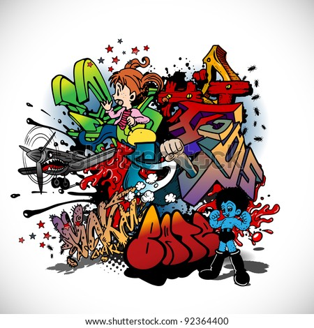 Graffiti - stock vector