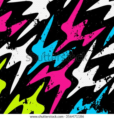Graffiti Abstract beautiful colorful background grunge texture vector illustration - stock vector