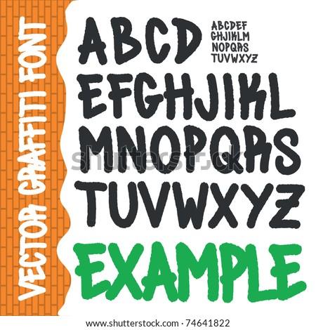 Graffiti Alphabet Full ABC A Z Street Tag Style Font Handwritten Type