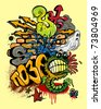 Graffiti elements vector - stock vector