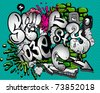 Graffiti elements vector - stock photo
