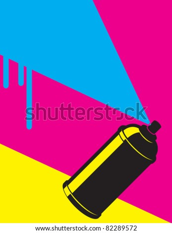 graffiti neon spray - stock vector