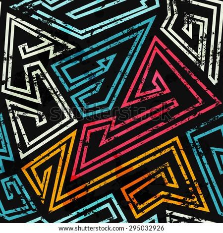 graffiti seamless pattern with grunge effect  - stock vector