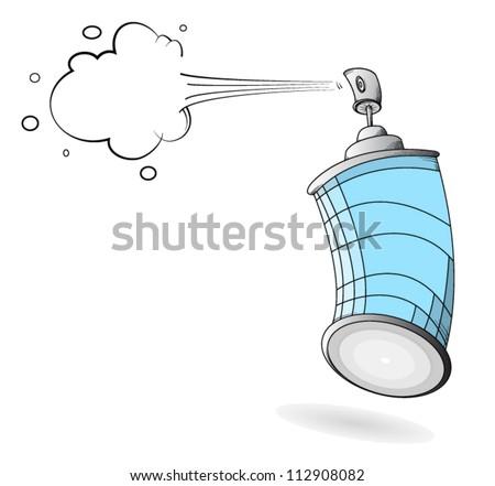 Graffiti spray can. EPS8. - stock vector