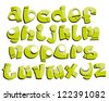graffiti styled font - stock vector