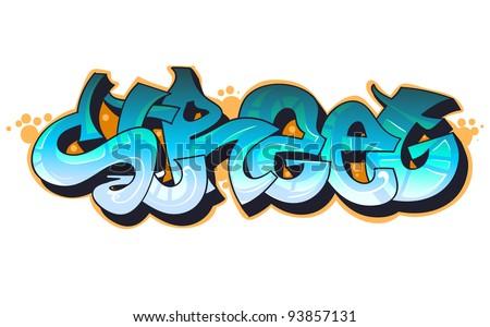 Graffiti urban art. - stock vector