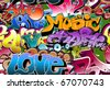 Graffiti urban wall background - stock vector
