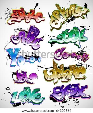 Graffiti vector - stock vector