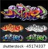 graffiti vector background - stock vector