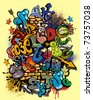 Graffiti vector elements - stock