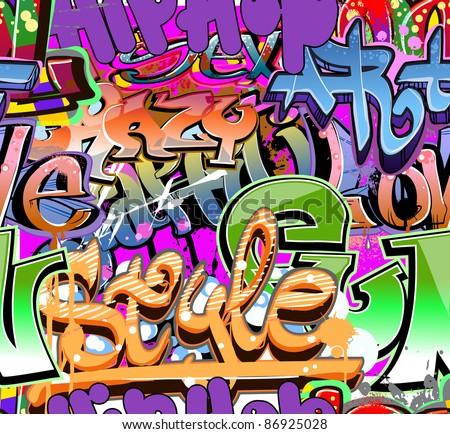 Graffiti wall vector abstract background - stock vector