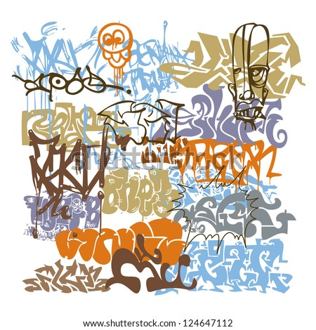 Grafitti Tag Vector Urban Art - stock vector